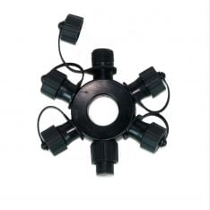 5 Port Ring Connector, Connectable, Black or White