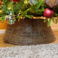 40cm x 57cm Brown Natural Willow Christmas Tree Skirt