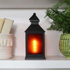 24cm Black Fire Effect Lantern