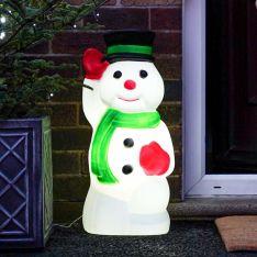 68cm Waving Snowman Blow Mould Christmas Figure