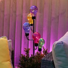 Solar Multi Colour Festoon Stake Light