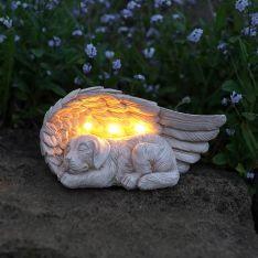 Solar Stone Effect Memorial Dog Light
