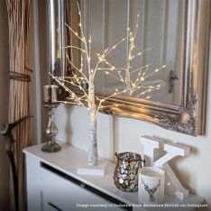 2ft Battery Birch Twig Tree, 60 Warm White LEDs