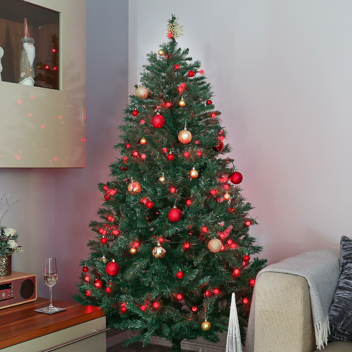 10m Outdoor Christmas Tree Berry Fairy Lights 100 Leds