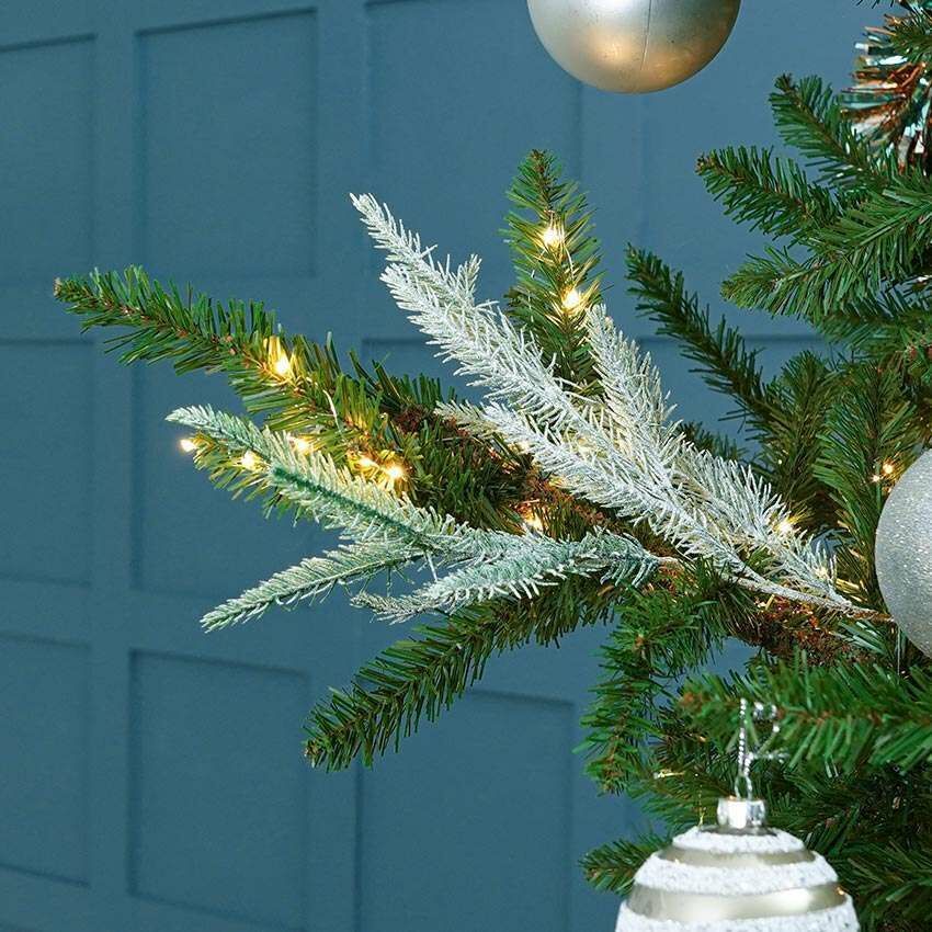 20cm Frosted Spruce Glittered Pine Spray Christmas Tree Decoration