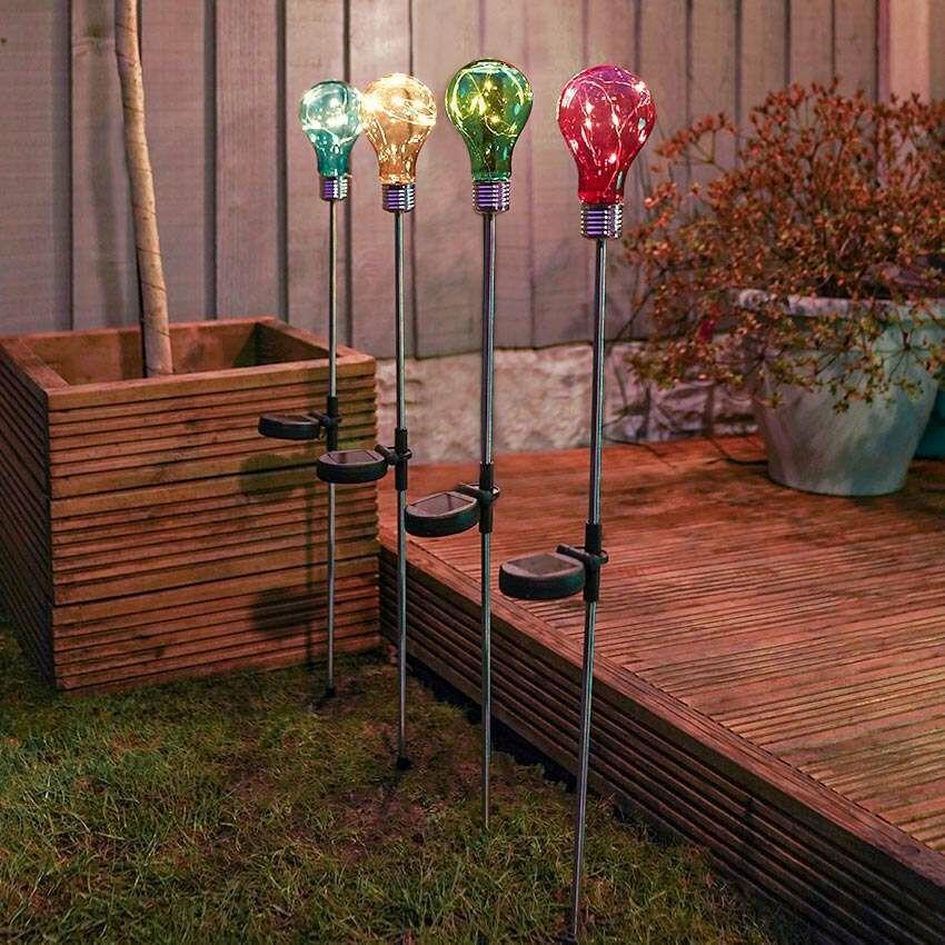 Solar Festoon Stake Lights, 4 Pack