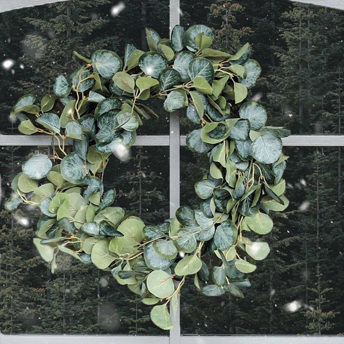 37cm Outdoor Eucalyptus Christmas Wreath