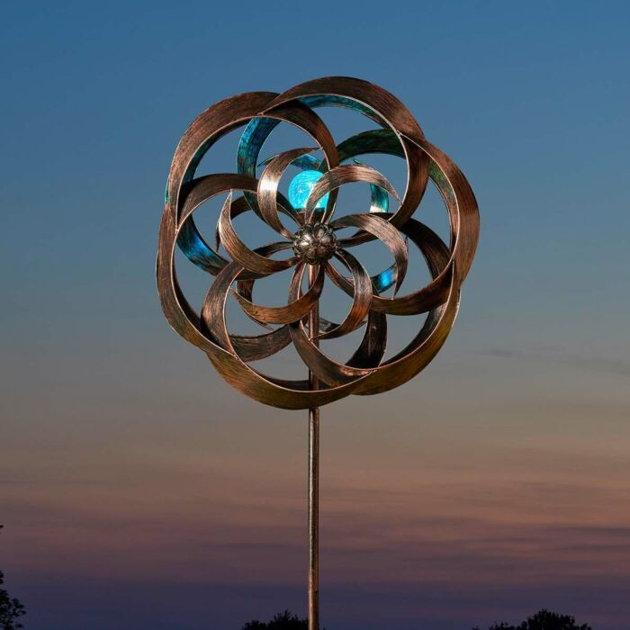 Solar Taurus Wind Spinner Stake Light