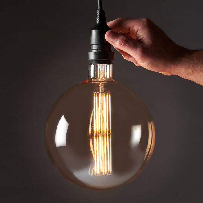 8W E27 Fully Dimmable Vintage Tinted G180 Filament Style, Warm White LED Light Bulb