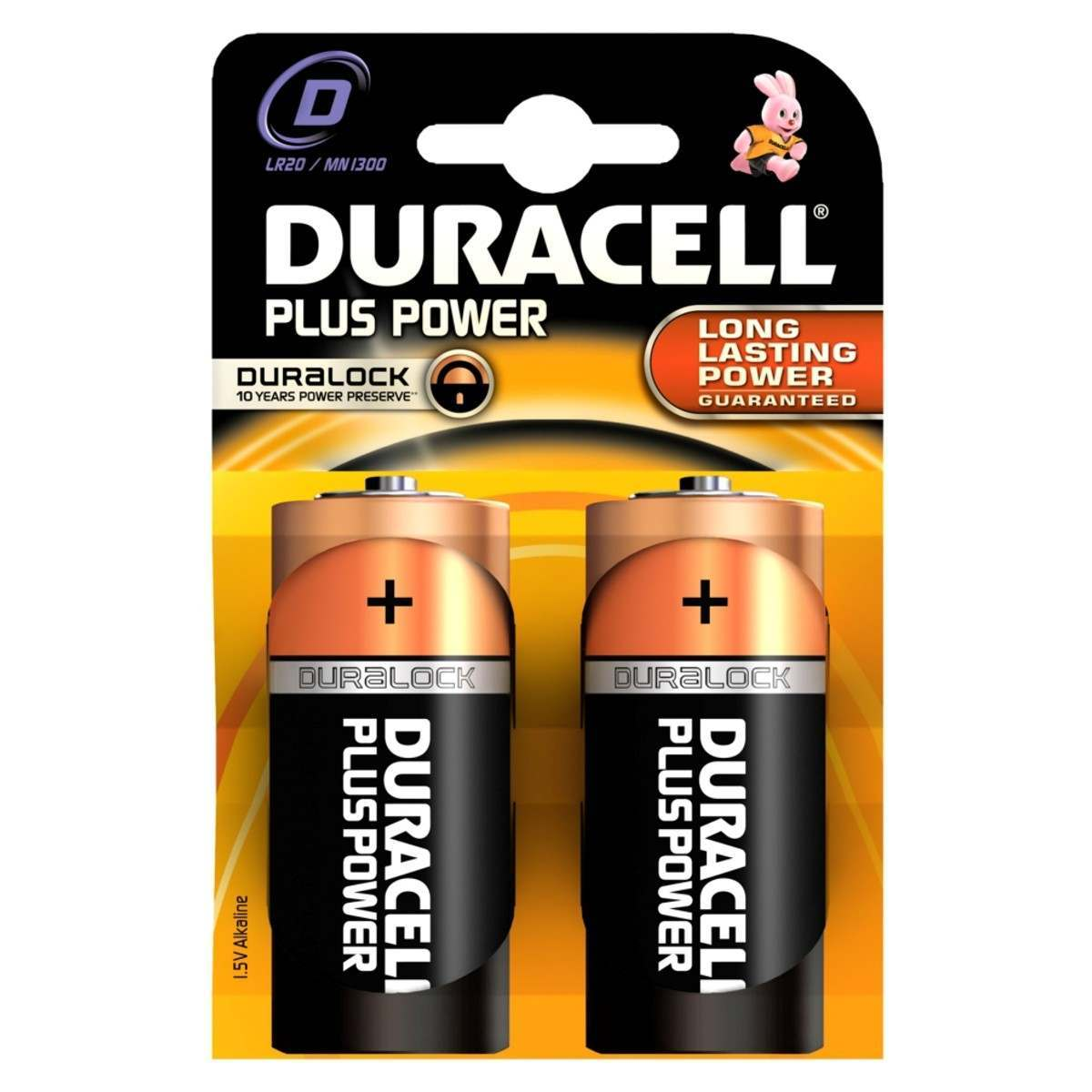Duracell Alkaline Batteries D (Type) Pack of 2