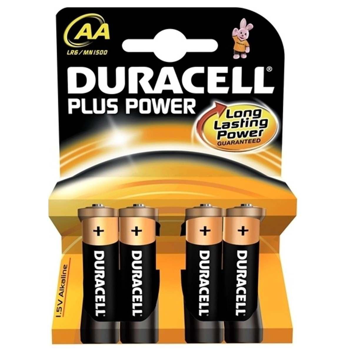 Duracell Alkaline Batteries AA Pack of 4