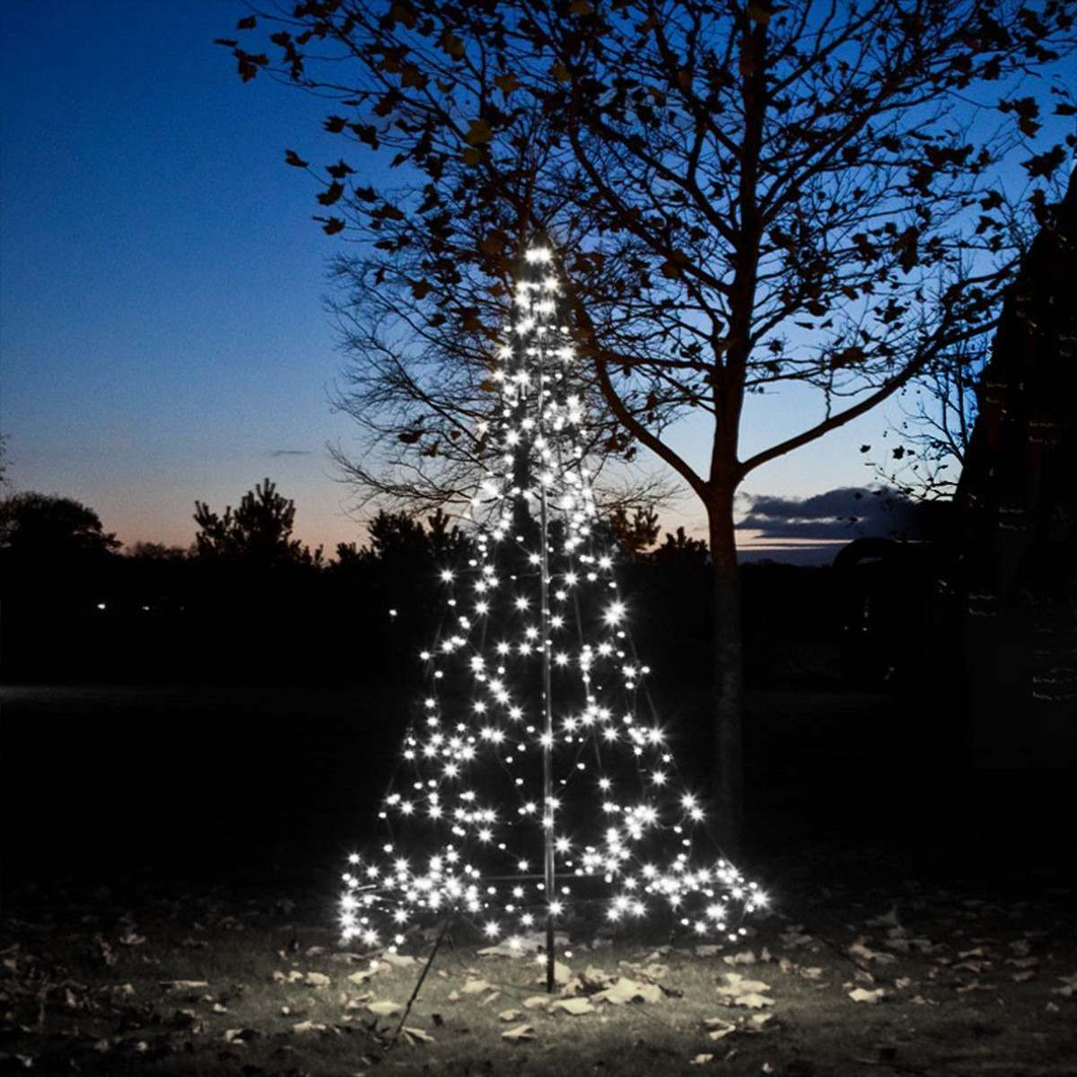 3m FairyBell Outdoor Pre-lit Tree, 360 White Twinkle LEDs