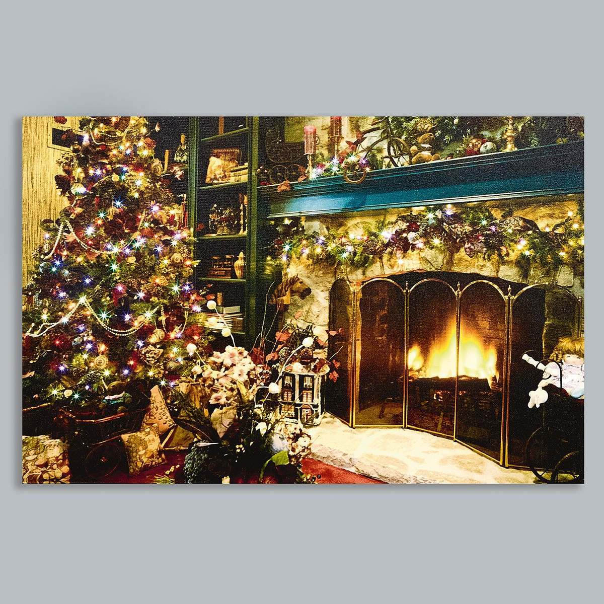 Click to view product details and reviews for Premier Battery Led Light Up Fireplace Canvas Scene 60 X 40cm.