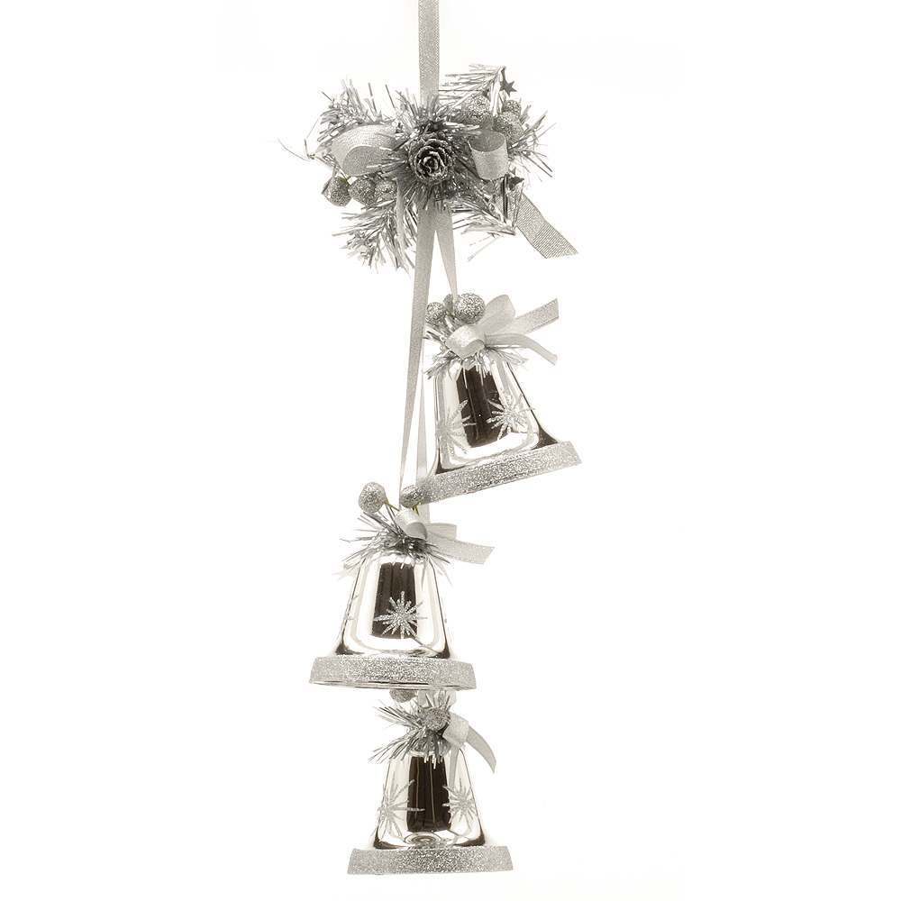 3 in 1 hanging cluster bell christmas tree decoration
