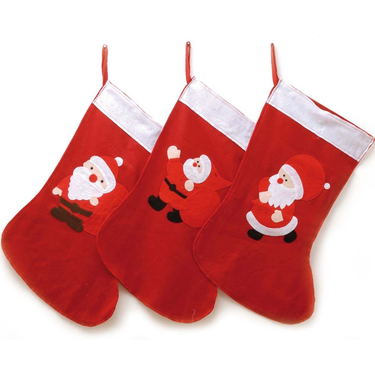 Red and White Santa Stocking