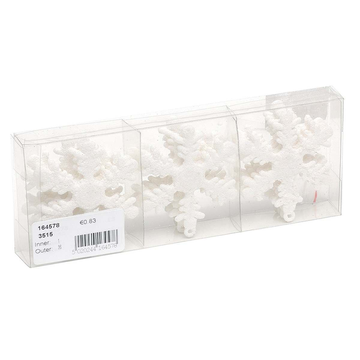 Click to view product details and reviews for 12 X 50mm Shatterproof Snowflake Ornaments White.