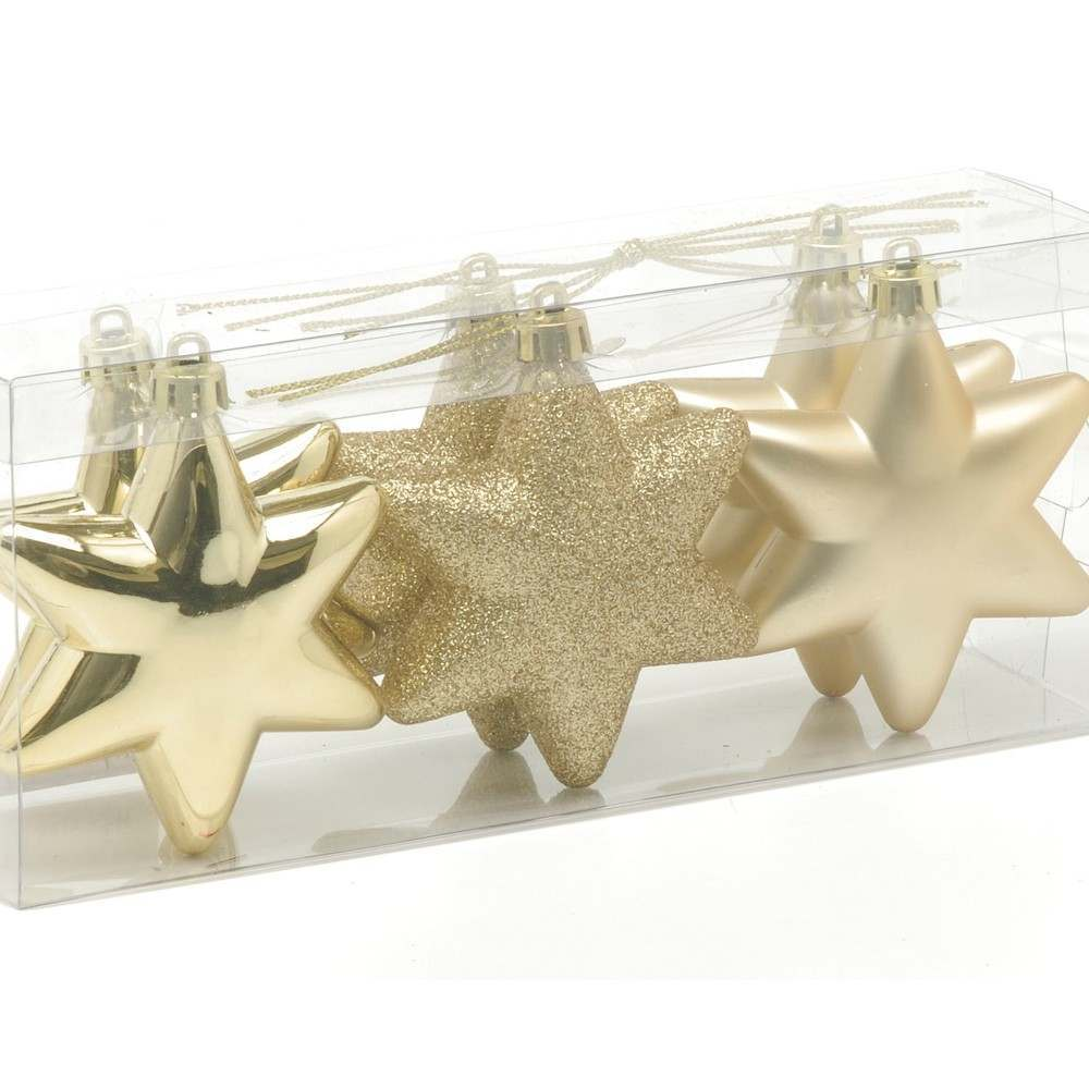 6 X 75MM ASSTD S PROOF STARS GOLD