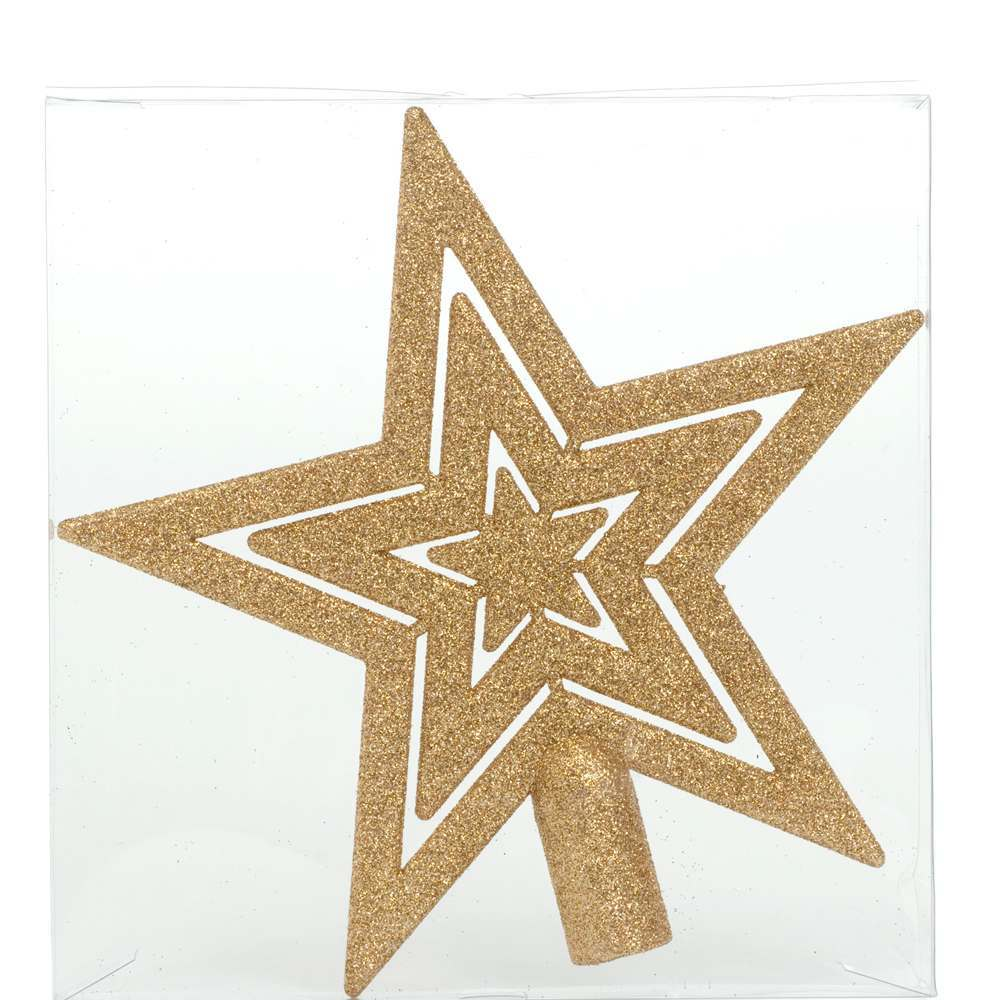 20cm Glitter Star Christmas Tree Topper