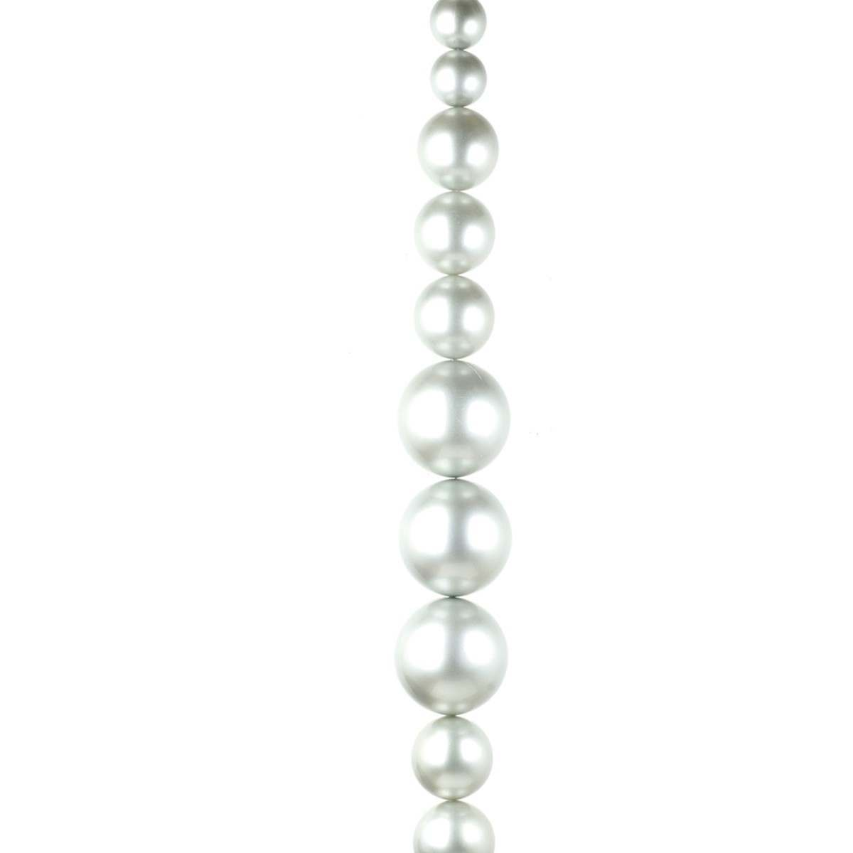 Click to view product details and reviews for 18m Mixed Size Silver Bauble Garland.
