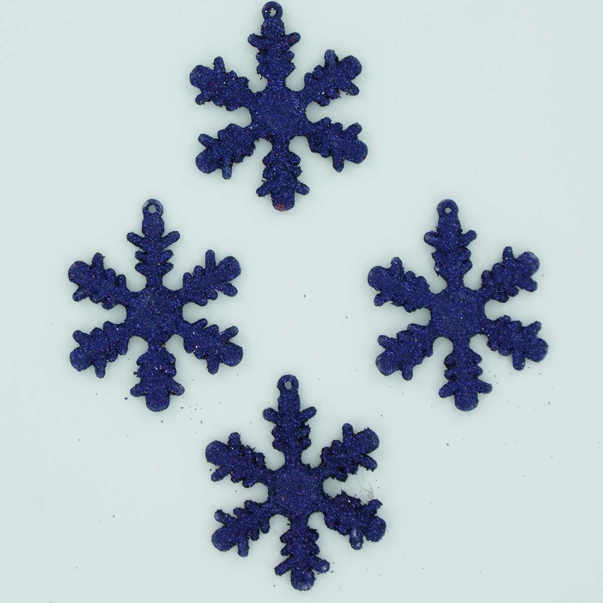 12 x 50mm Midnight Blue Shatterproof Snowflakes