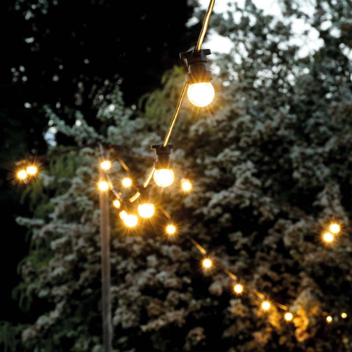 10m e27 festoon belt 20 sockets connectable - Guirlandes lumineuses exterieures solaires ...