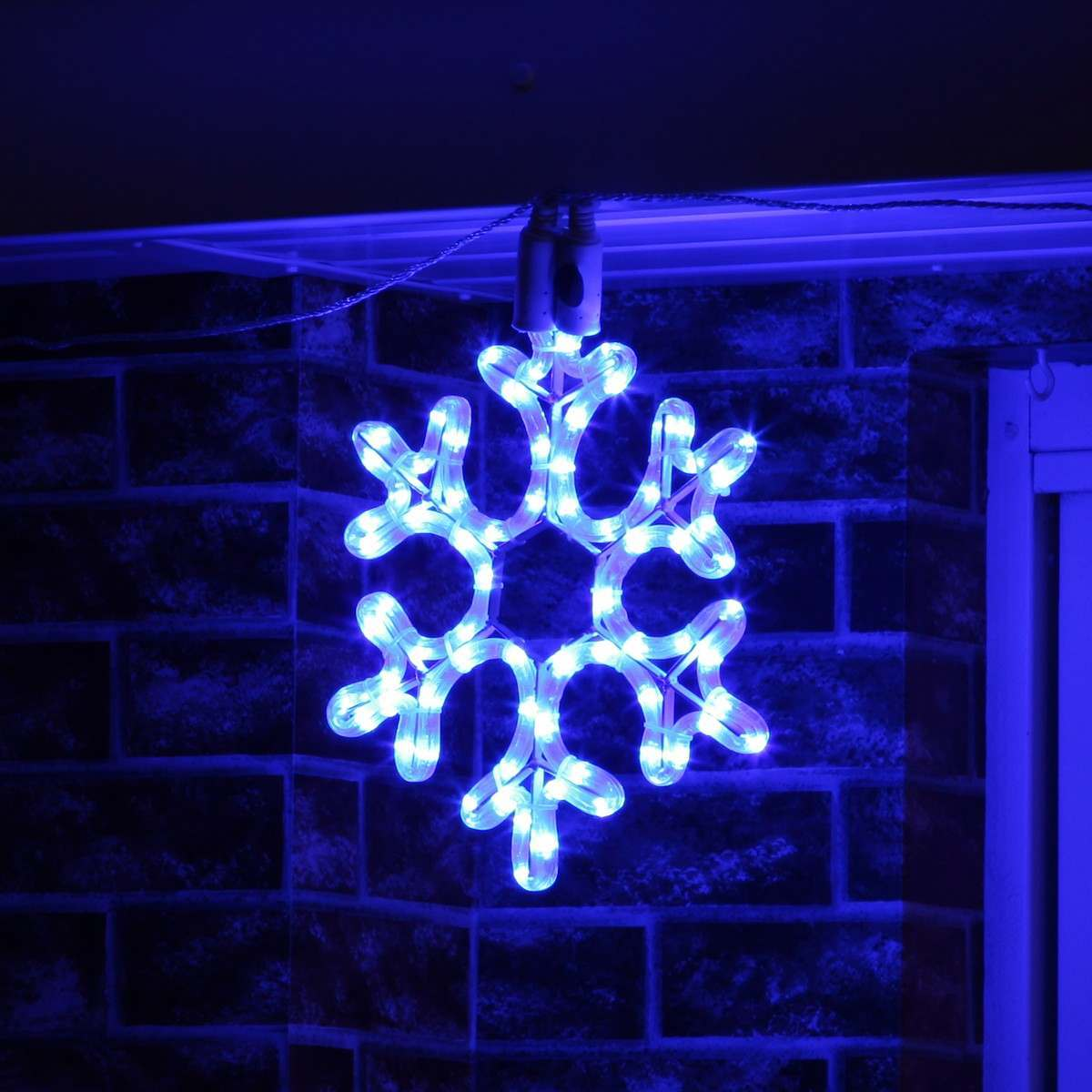 30cm Blue Rope Light Snowflake silhouette Connectable 72 LEDs