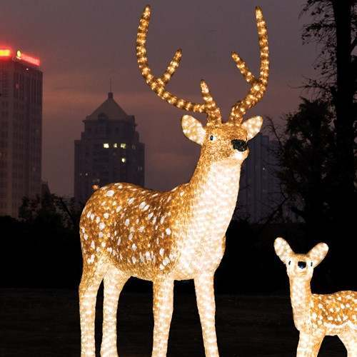 Click to view product details and reviews for 15m Outdoor Male Reindeer Figure 2080 White Leds.