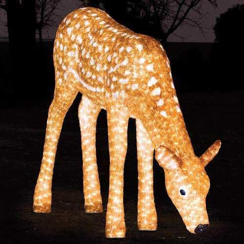 Click to view product details and reviews for 1m Outdoor Female Reindeer Figure 1380 White Leds.