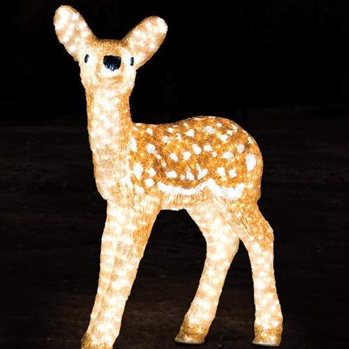 Click to view product details and reviews for 60cm Outdoor Baby Reindeer Figure 560 White Leds.