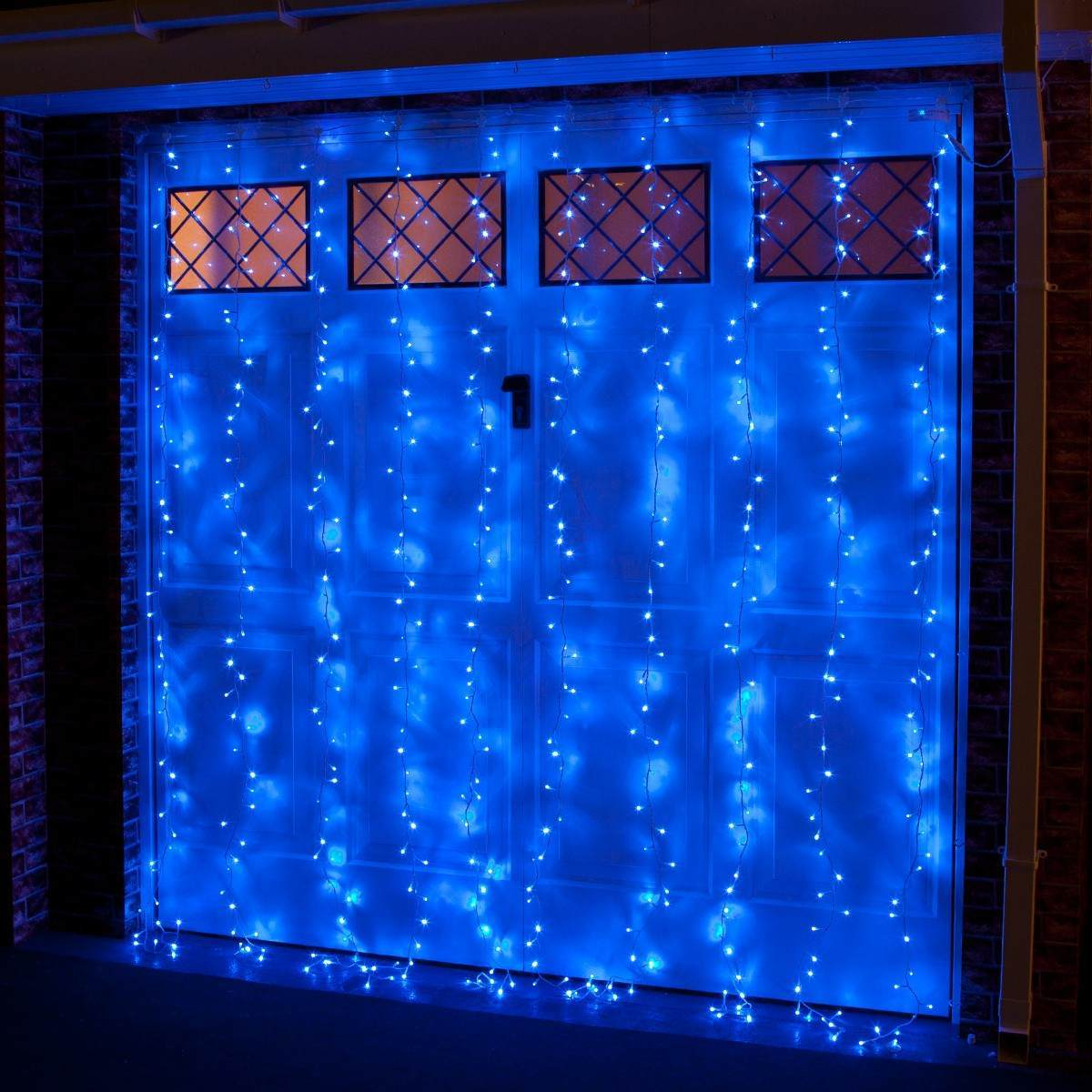 Click to view product details and reviews for 2m X 25m Outdoor Christmas Curtain Light Connectable 500 Blue Leds.