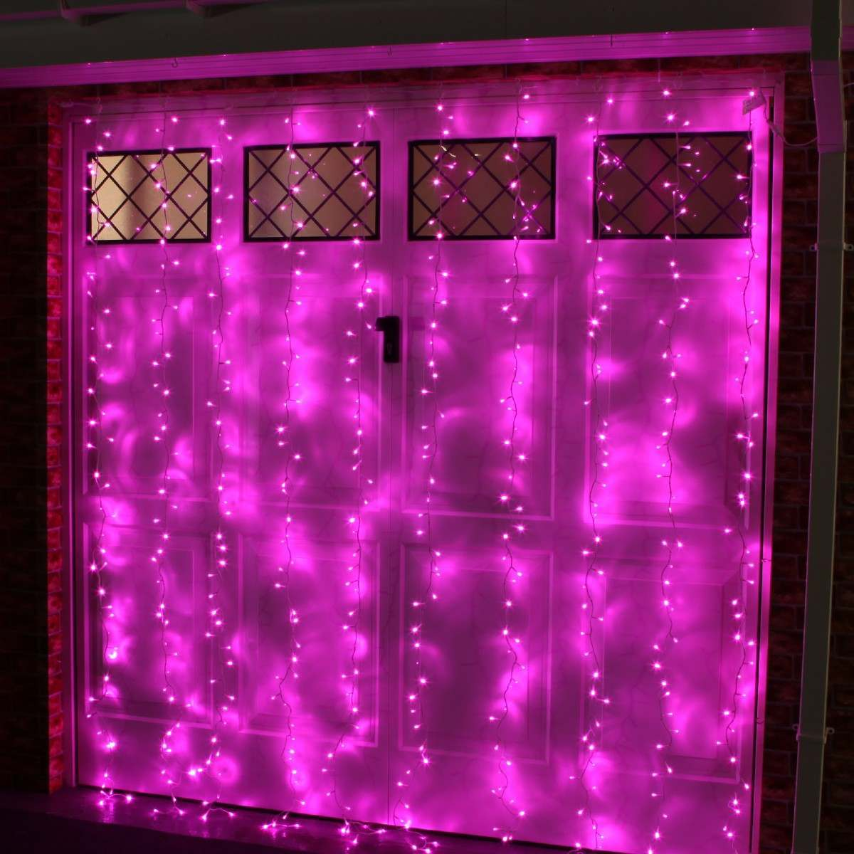 Click to view product details and reviews for 2m X 25m Outdoor Christmas Curtain Light Connectable 500 Pink Leds.