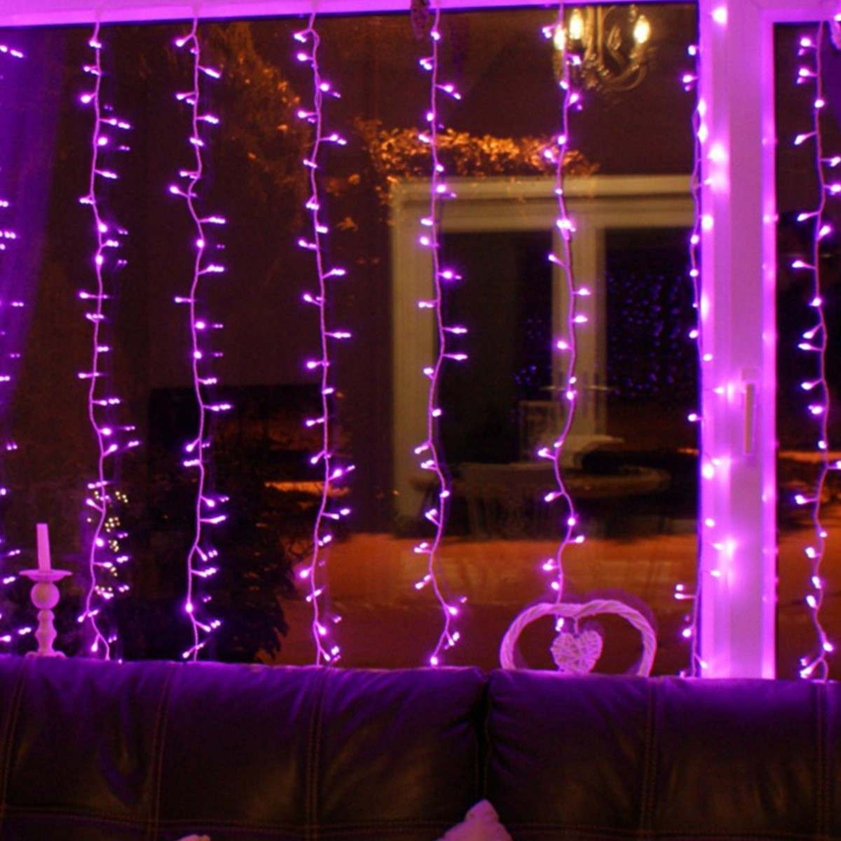 Click to view product details and reviews for 2m X 15m Outdoor Christmas Curtain Light Connectable 300 Pink Leds.