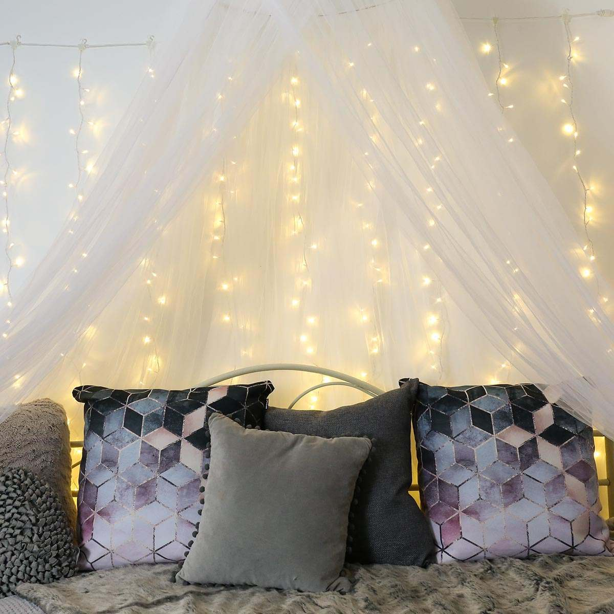 34 Fantastic Diy Home Decor Ideas With Rope: 2m X 1.5m Outdoor Curtain Light, Connectable, 300 LEDs