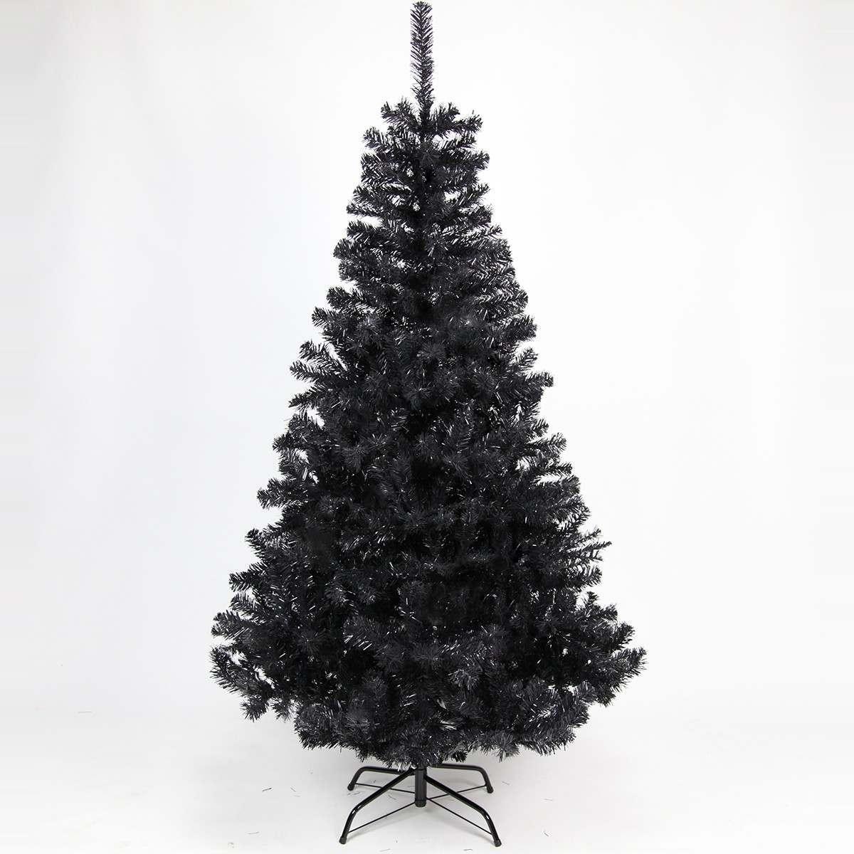 180cm Black Artificial Xmas Tree 584 Tips
