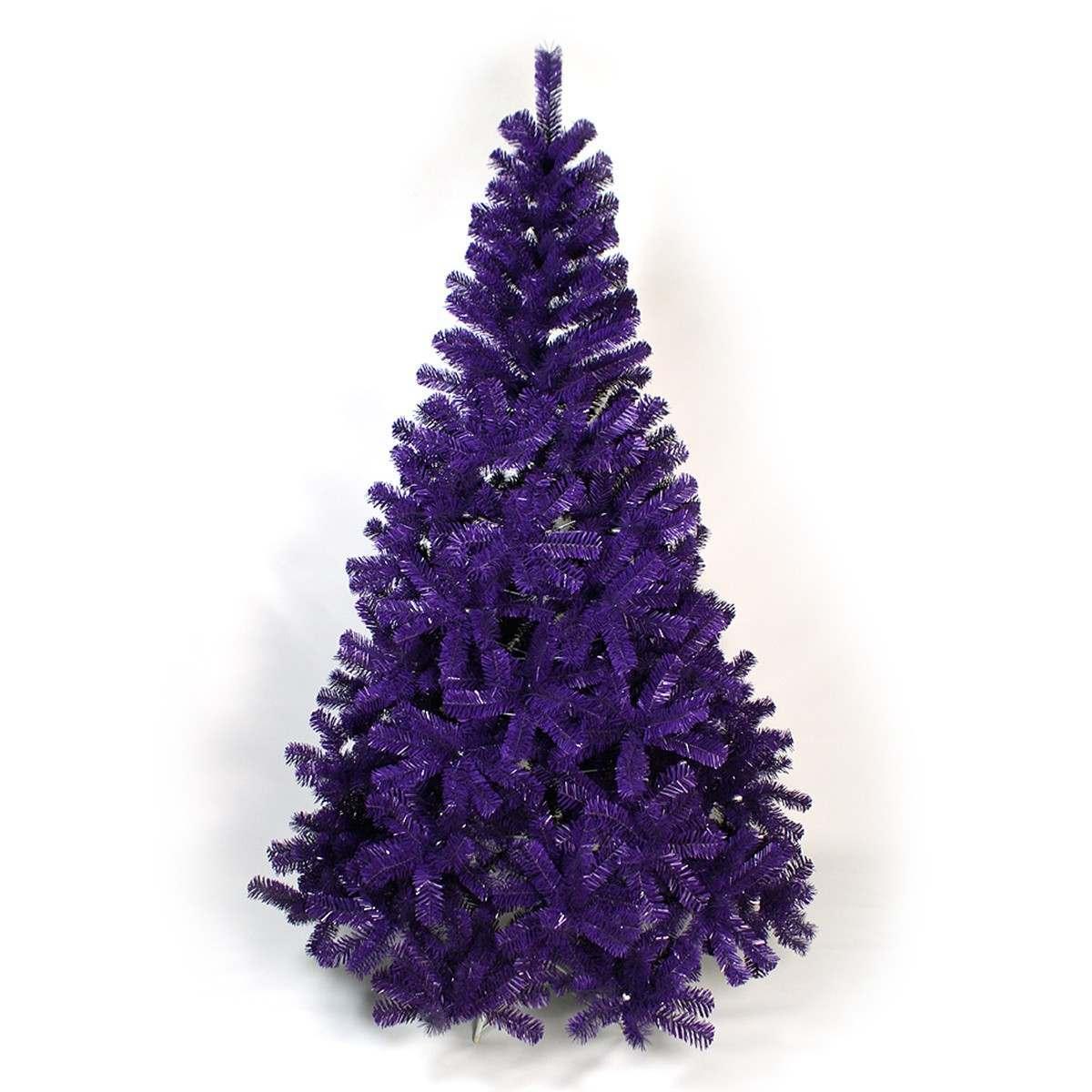 6ft purple artificial christmas tree