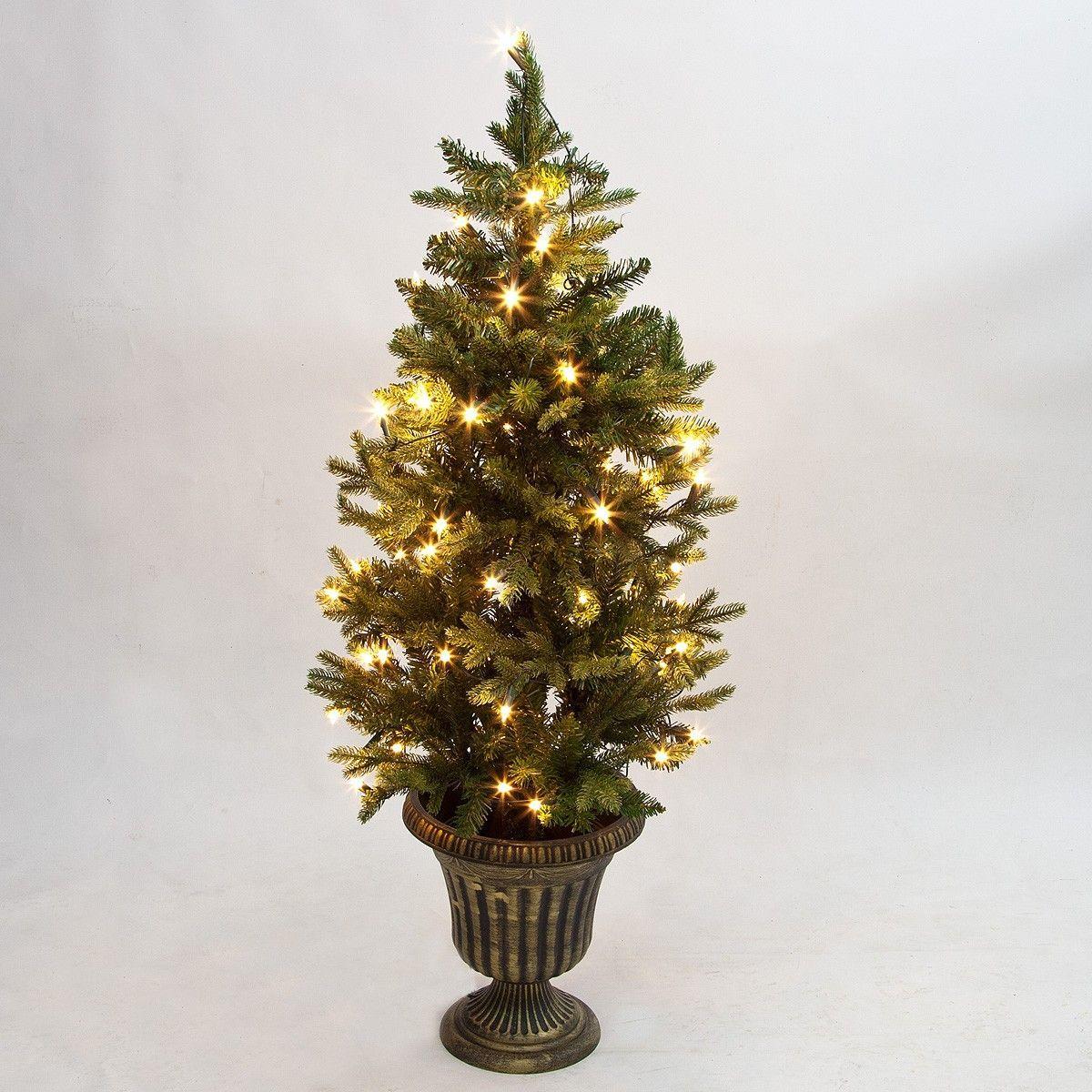 4FT Pre Lit Slim Artificial Tree