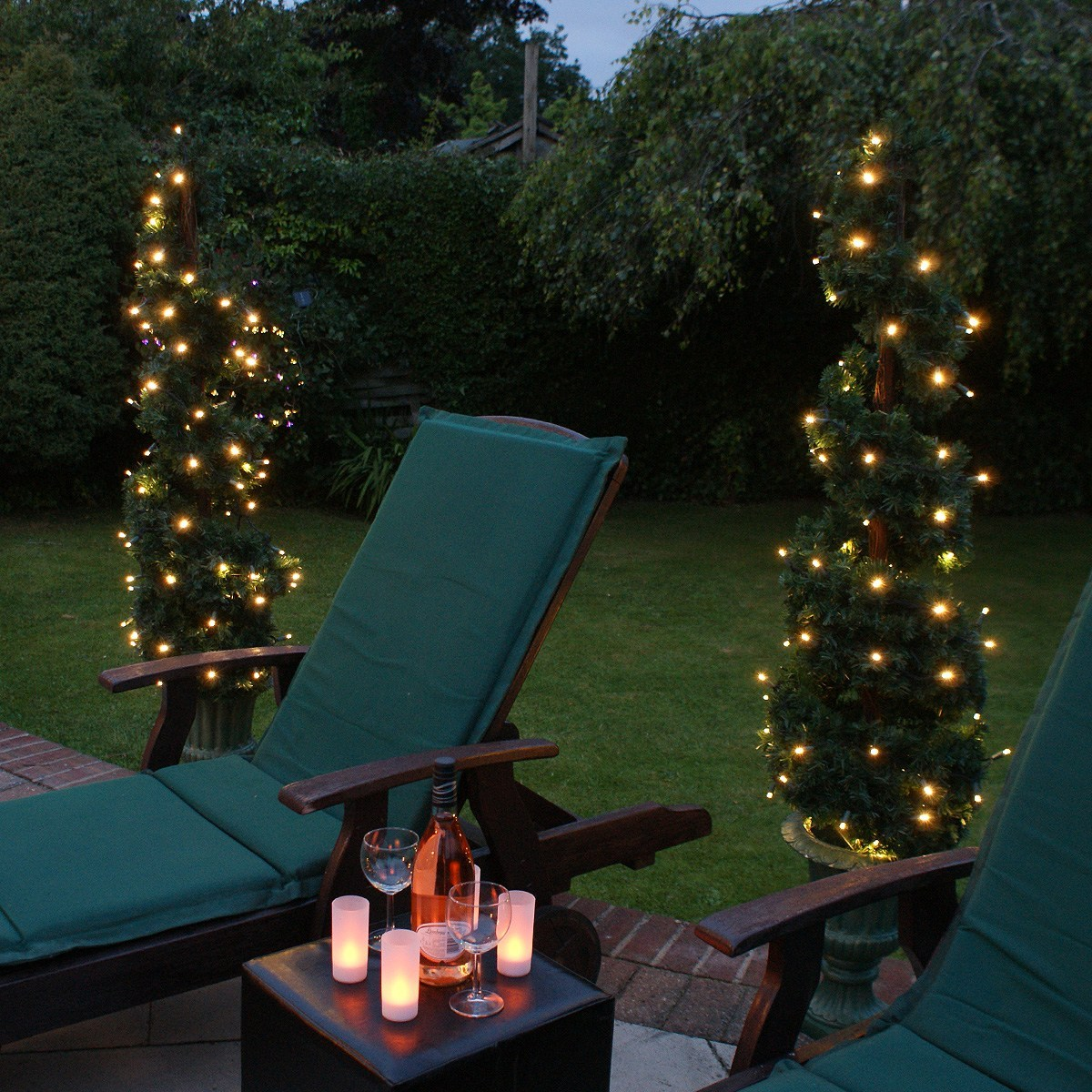 Outdoor LED Battery Fairy Lights with Timer Connectable