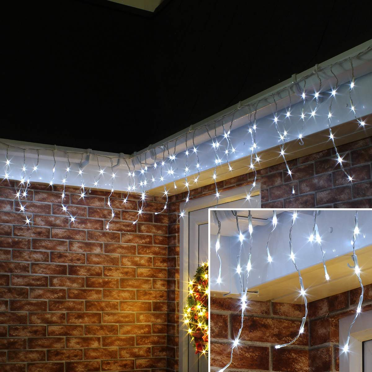Click to view product details and reviews for Outdoor Led Battery Icicle Lights Connectable.