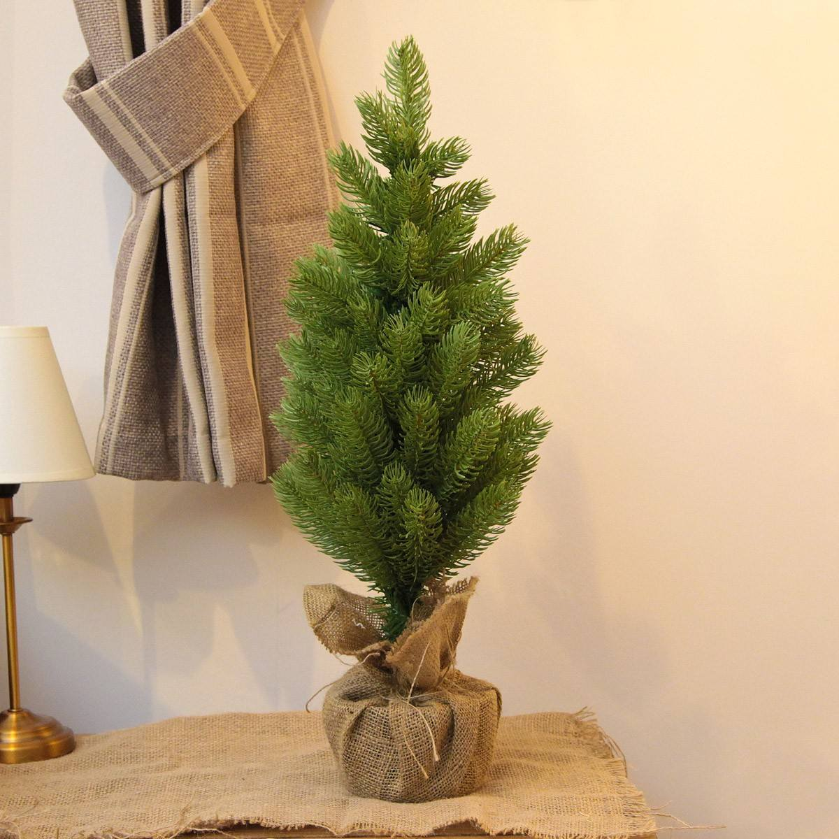 2ft PE Potted Artificial Table Top Christmas Tree