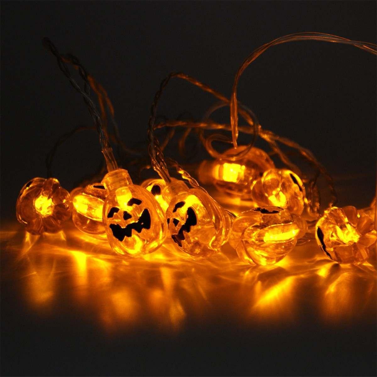 3m Halloween Pumpkin String Lights 24V 30 Orange LEDs