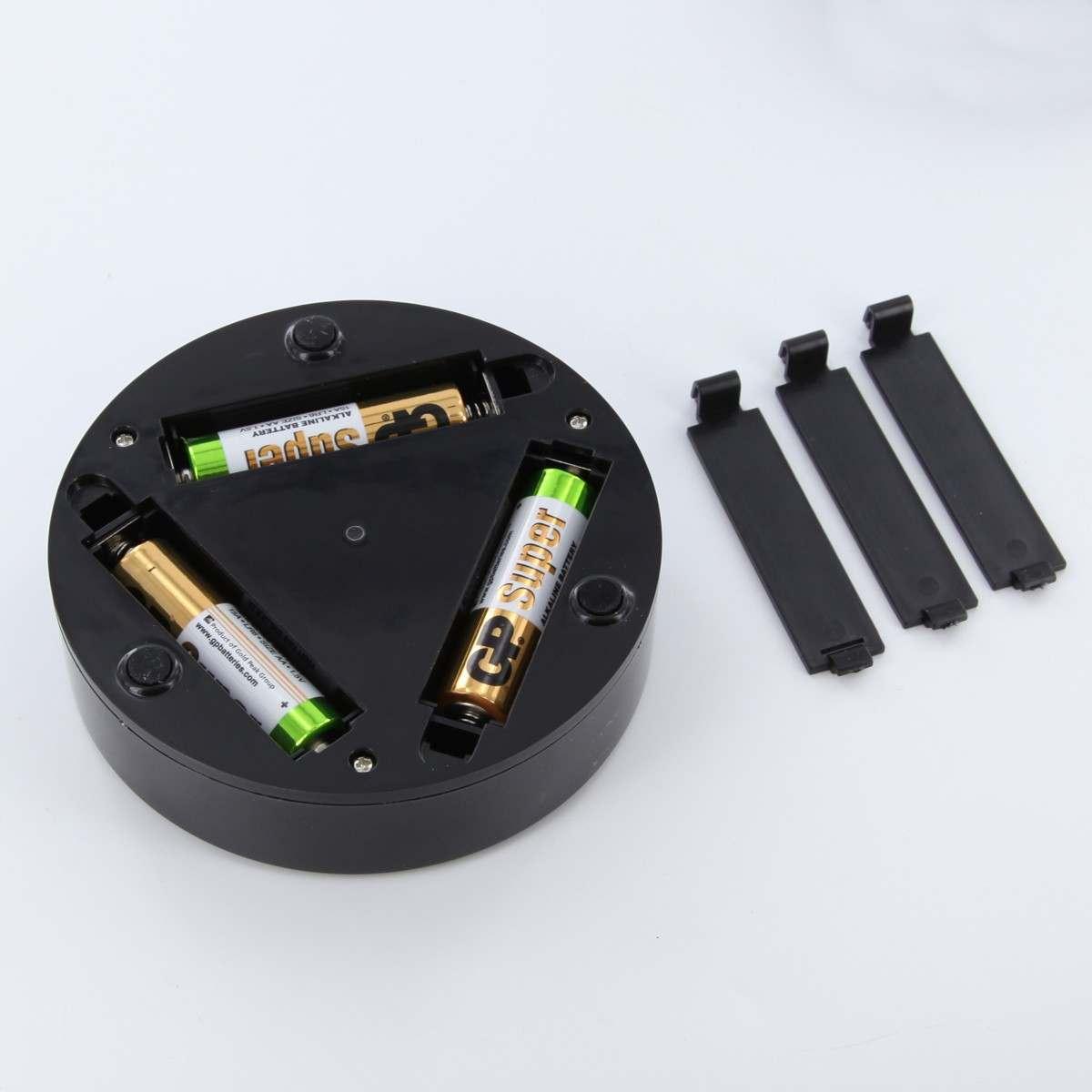 4 LED E Luminator, 9xWhite led, 3xAA (not inc), black ABS body,EVA mat, 10cmx2.5cm