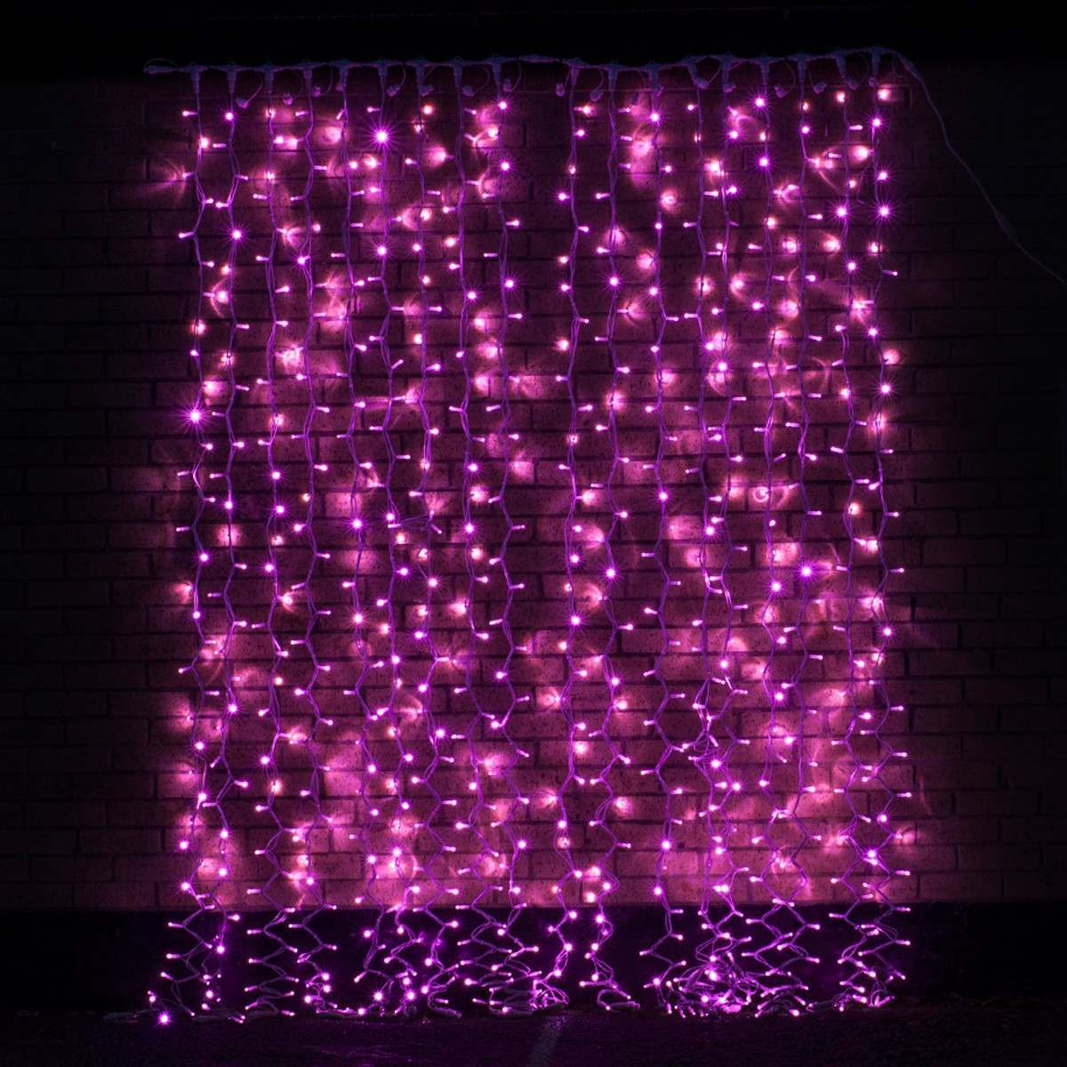 2m x 2.5m Pink Connectable Curtain Light 500 LEDs