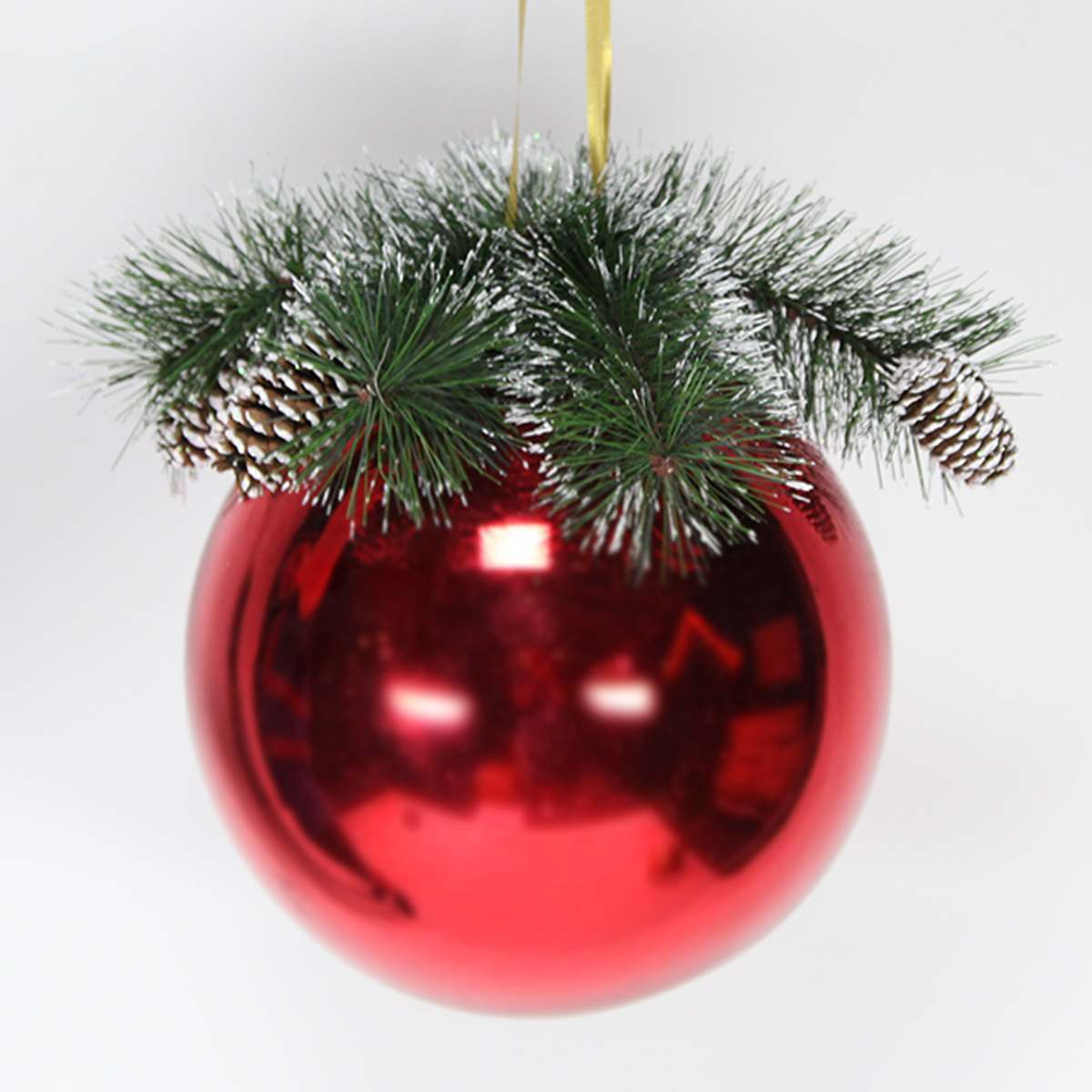 25cm large bauble with decorative top for Outdoor christmas baubles