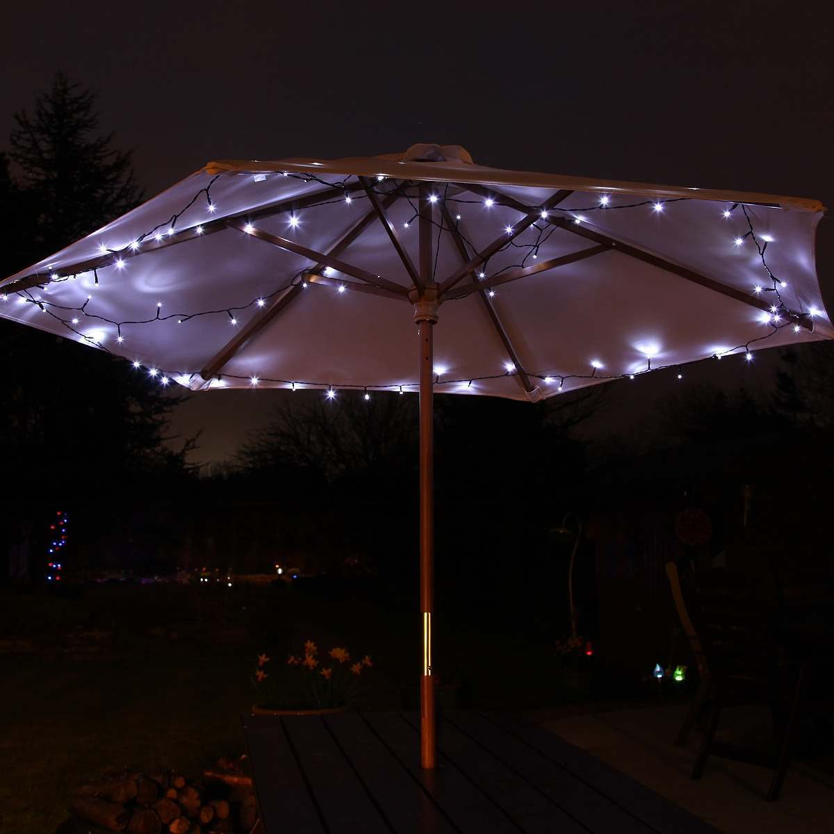 Click to view product details and reviews for Solar Multi Function Christmas Fairy Lights 100 White Leds 10m.