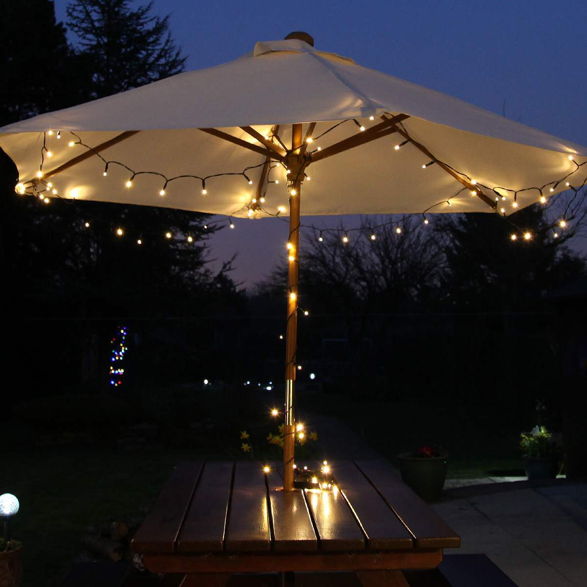 Click to view product details and reviews for Solar Multi Function Christmas Fairy Lights 100 Warm White Leds 10m.