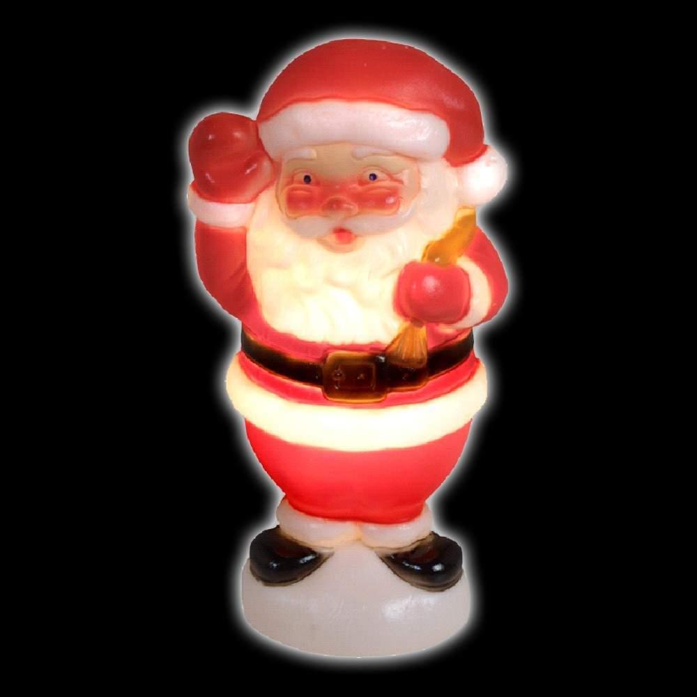 Outdoor Small Santa waving figure, 240v, 50cm