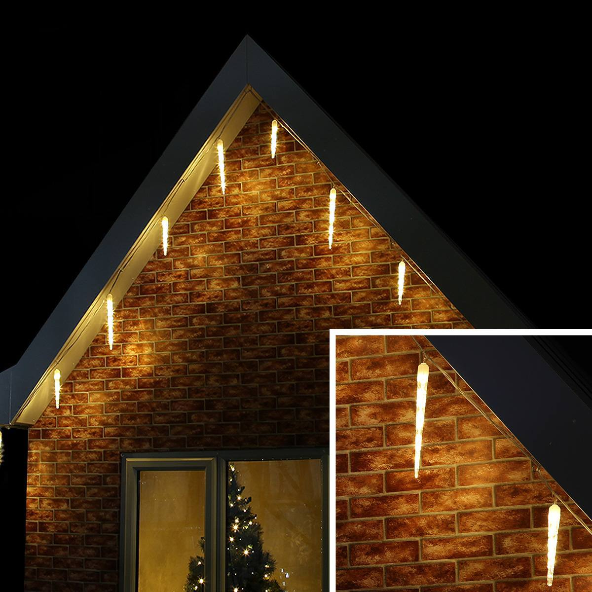 Click to view product details and reviews for 15m Warm White Outdoor Christmas Icicle Tube Light Connectable 195 Led.