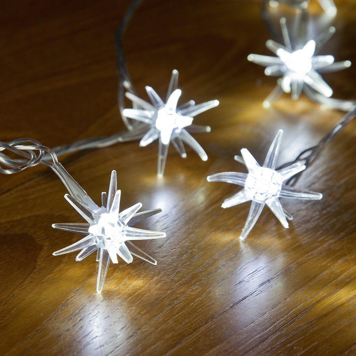 3.8M WHITE LED 3D STAR LIGHTS