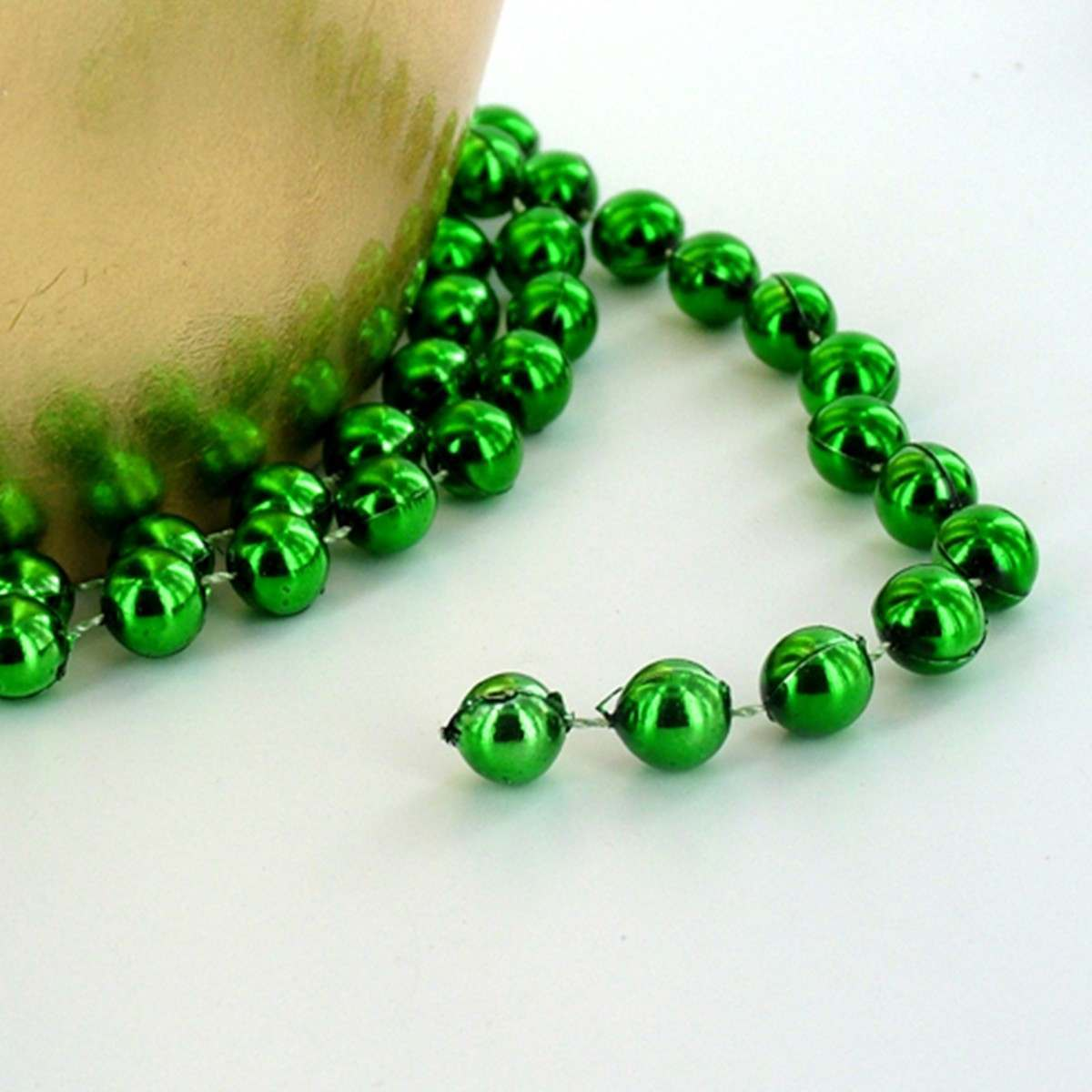 Click to view product details and reviews for 28m Green Beaded Chain.