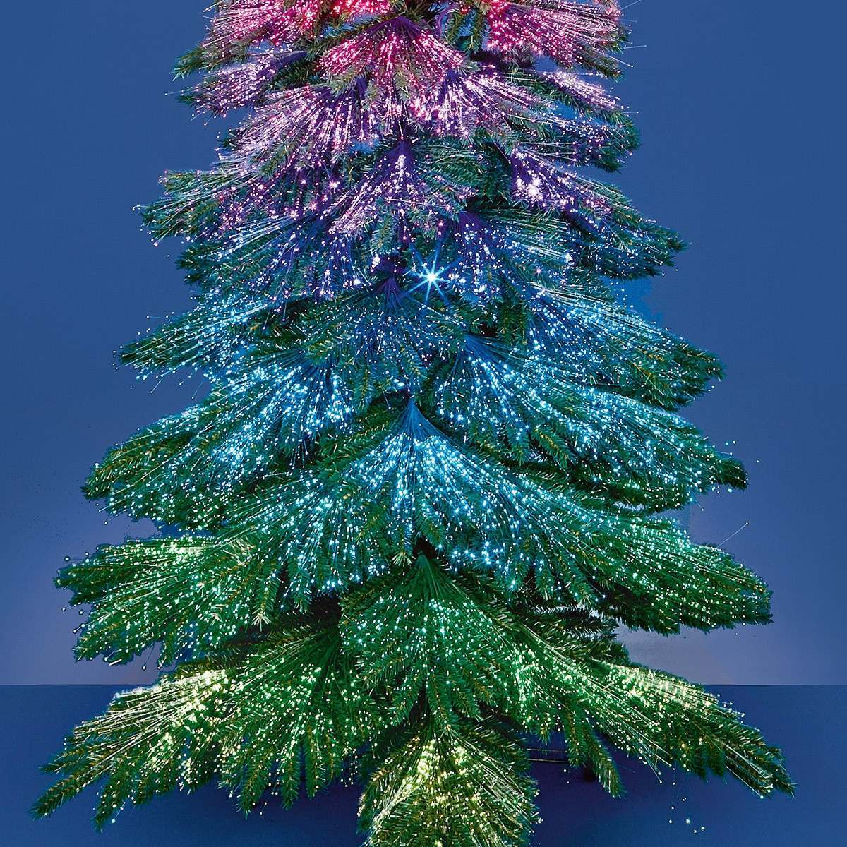 2.1m Outdoor Fibre Optic Starry Sky Dancing LEDs Christmas Tree